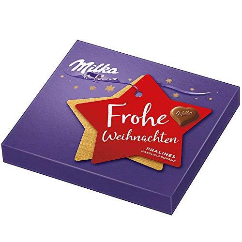 Milka Christmas Pralines Hazelnut Cream 110g (pack of 2)