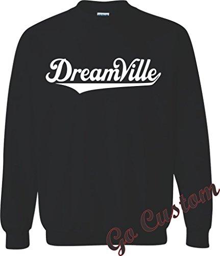 J COLE DREAMVILLE LOGO HOODIE, T-SHIRT, CREWNECK Hip-Hop artist t-shirt design S Crewneck-Black - Crew Hooded T-shirt