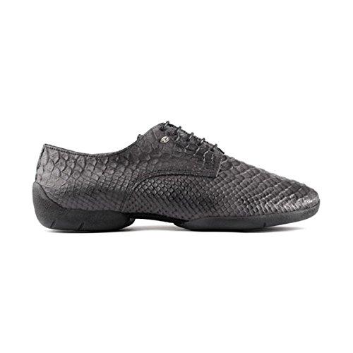 PortDance Herren Sneakers/Dance Sneakers PD Salsa 001 - Leder Dunkelgrau - Sneaker Sohle
