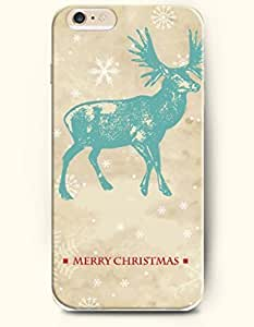 iPhone 6 Plus Case 5.5 Inches Cyan Reindeer - Merry Christmas