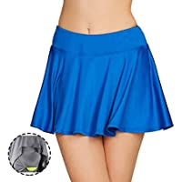 Cityoung Women's Basic Stretchy Pleated Athletic Skirt Tennis Quick Dry Active Skorts with Shorts Inner