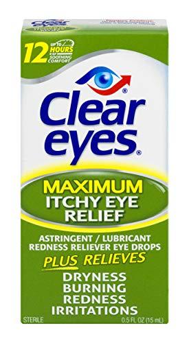Clear Eyes | Maximum Itchy Eye Relief Eye Drops | 0.5 FL OZ