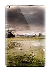 New Premium Flip Case Cover Kingdom Of Heaven Castle Ruins Green Plain Dark Skies Nature Other Skin Case For Ipad Mini/mini 2