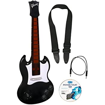 hasbro power tour electric guitar black toys games. Black Bedroom Furniture Sets. Home Design Ideas