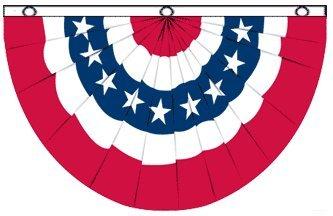 Usa Flag Bunting (USA Bunting Flag 5x3ft Poly)