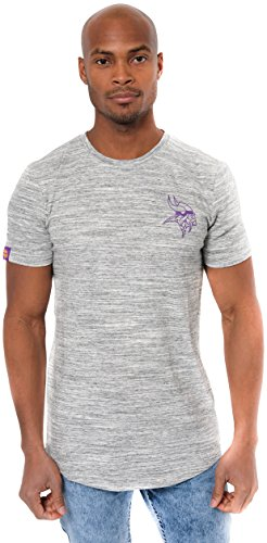 (NFL Minnesota Vikings Men's T-Shirt Active Basic Space Dye Tee Shirt, Large, Gray)