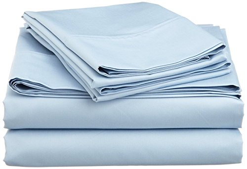 "American Beddng Collection Sleeper Sofa Bed Sheet Set (Color - Light Blue) Solid Egyptian Cotton 400 Thread Count ( Queen Size 60""x74""x 5"" )"