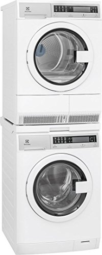 Electrolux White Compact Front Load Laundry Pair with EFLS210TIW 24″ Washer, EFDE210TIW 24″ Electric Dryer & STACKIT24 Stacking Kit