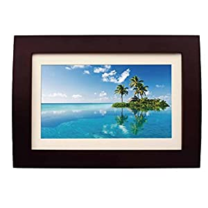Sylvania SDPF1089 10-Inch LED Multimedia Wood Finished Digital Photo Frame with Remote Control and 2 GB Built in Memory (Brown) (Certified Refurbished)