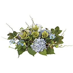 Nearly Natural Hydrangea Candleabrum Centerpiece