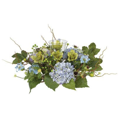 Nearly Natural Hydrangea Candleabrum Centerpiece by Nearly Natural