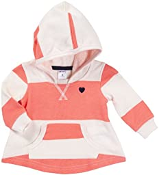 Carter\'s Girls\' Hooded Knit Tunic - Coral Stripe - 4