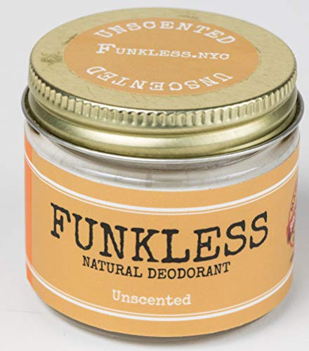 Funkless Natural Deodorant - Unscented, 2.1 Oz.