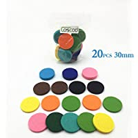 20-Pack Replacement Refill Pads For Car Essential Oil Diffuser or Aromatherapy Necklace-Fit for 30mm Aroma Stainless Steel Locket Pendant