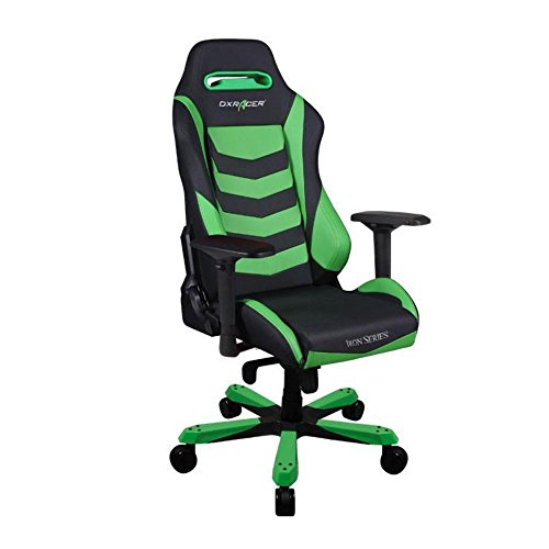 DXRacer OH/IS166/NE Green & Black Iron Series Gaming Chair Ergonomic High Backrest Office Computer Chair Esports Chair Swivel Tilt and Recline with Headrest and Lumbar Cushion + Warranty Review