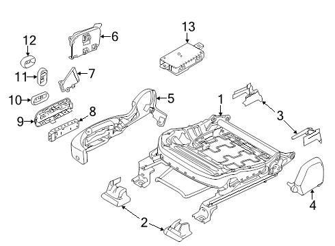 (Ford 9L3Z-14711-AB - KNOB - CONTROL )