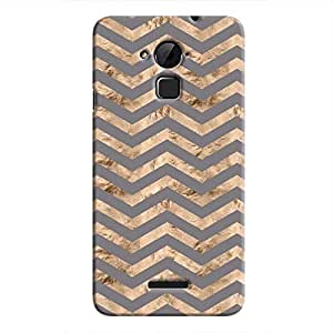 Cover It Up - Brown Grey Tri Stripes Coolpad Note 3 Hard case