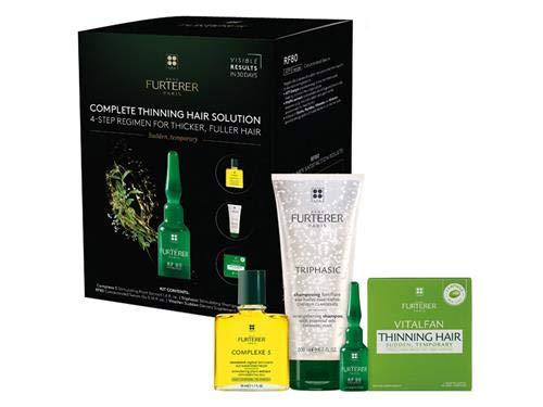 Rene Furterer Triphasic 4-Step Regimen for Thicker, Fuller Hair (Triphasic Regenerating Thin Hair Serum)