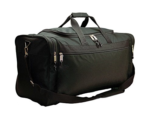 DALIX 25' Extra Large Vacation Travel Duffle Bag in Black