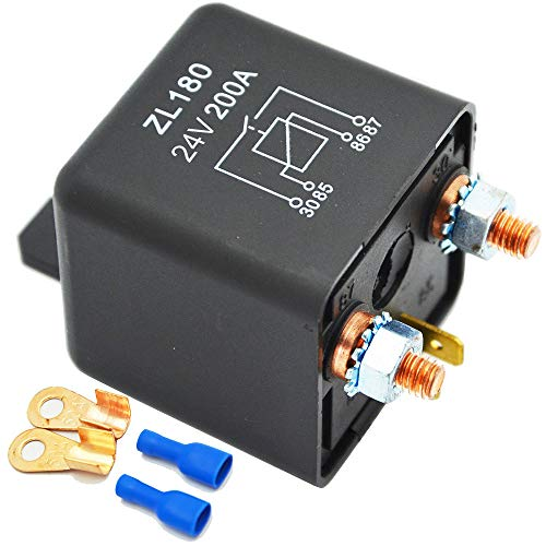 24v Relay (Ehdis 24V 200A Relays Car Truck Motor Automotive Boat Car Starter Heavy Duty Split Charge ZL180 2 Pin Footprint + 2 Terminal - [1 Set])