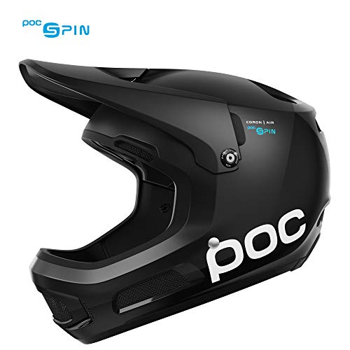 POC Coron Air Spin, Helmet for Downhill Mountain Biking, Uranium Black, M-L