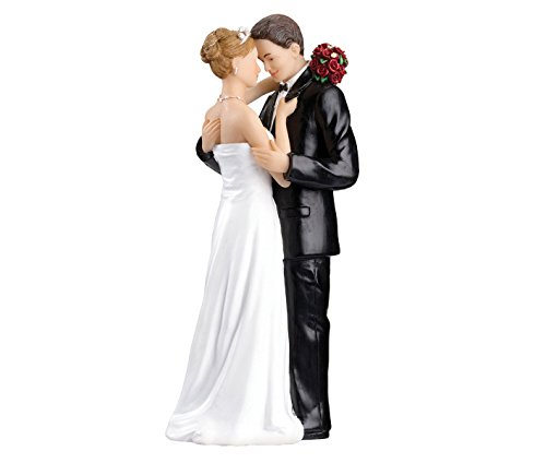 (Lillian Rose Caucasian Bride and Groom Wedding Cake Topper)