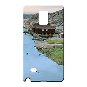 samsung note 4 Abstact Scratch-free Forever Collectibles cell phone carrying skins fishing cabins on a swedish river