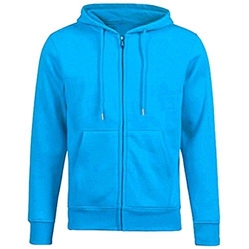 Samtree Women's Drawtring Hoodie Zip Up Sweatshirt Sport Fleece Jackets(2-4),Lake Blue