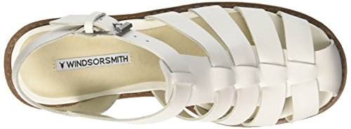 Windsor Smith Fluffy, Sandali con Plateau Donna bianco