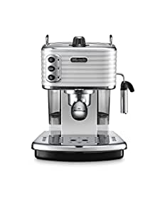 Delonghi Traditional Pump Espresso Coffee Machine, 1100 W, White - ECZ351.W by De'Longhi