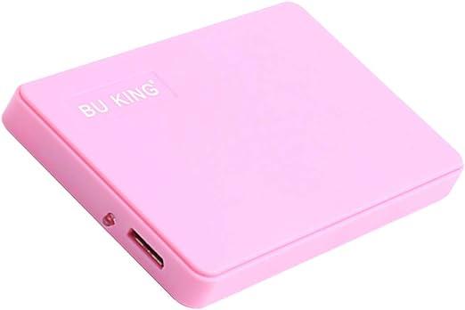 gazechimp BUKINGプラスチックピンク60G 2.5インチUSB 3.0ハードドライブディスクHDDに適用ラップトップPC