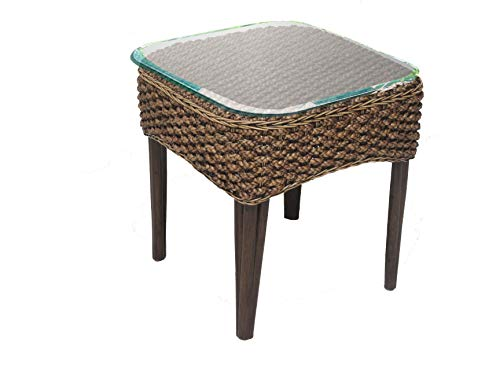 Panama Jack PJS-1001-ATQ-ET Sanibel Glass End Table, 21