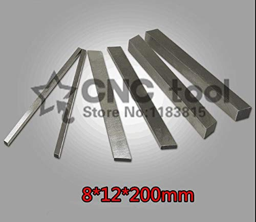 1 lot 2pcs HRC60 812200mm High-speed steel Sharp steel STEEL BILLETS blade Flat HSS Turning tool DIY knife material Lathe tool