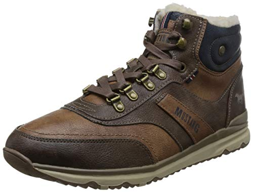 Top Kastanie High Mustang Baskets Sneaker Marron Hautes 301 Homme qxZ5U50vn