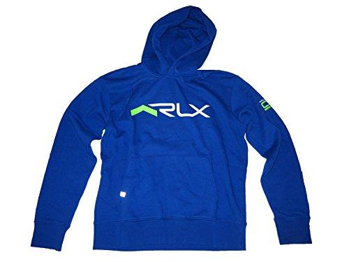 RLX Ralph Lauren Men Fashion Logo Fleece Hoodie, Sapphire Star, XX-Large by RLX
