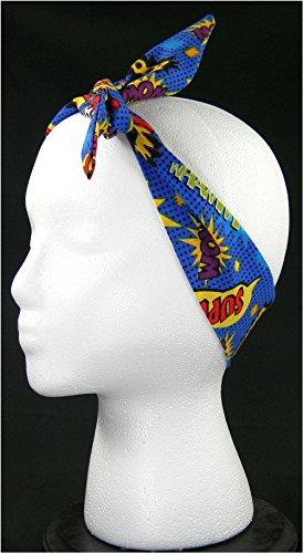 Headband & Rockabilly Superhero Phrases Combo (Handmade in the United -