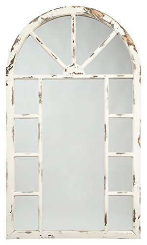 (Signature Design by Ashley Divakar Accent Mirror Antique White)