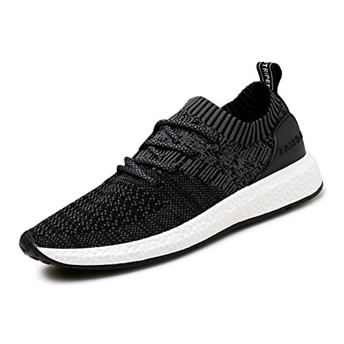 Meurry Mens Womens Sports Shoes Running Shoes Lightweight Breathable Sneaker Lace Up Trainers Casual Gym Walking Trainers Fitness Shoes Outdoor Shoes 36-46 Black-7
