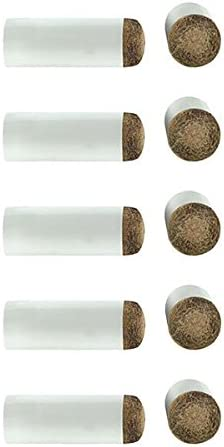 10 tacos para palos de billar de cuero, colocación a presión ...