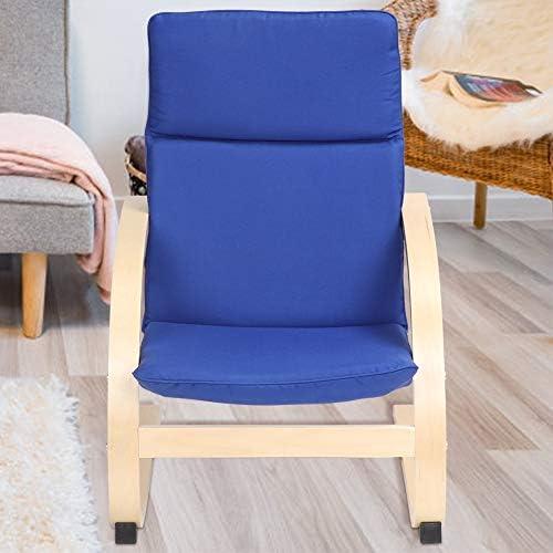 GOTOTOP Fauteuil à bascule pour enfants, chaise longue à bascule, chaise de loisirs, chaise de loisirs en coton, coussins amovibles, 63 x 50 x 43,5 cm