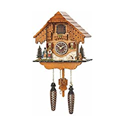 Trenkle Quartz Cuckoo Clock Black Forest House with Music TU 4206 QM