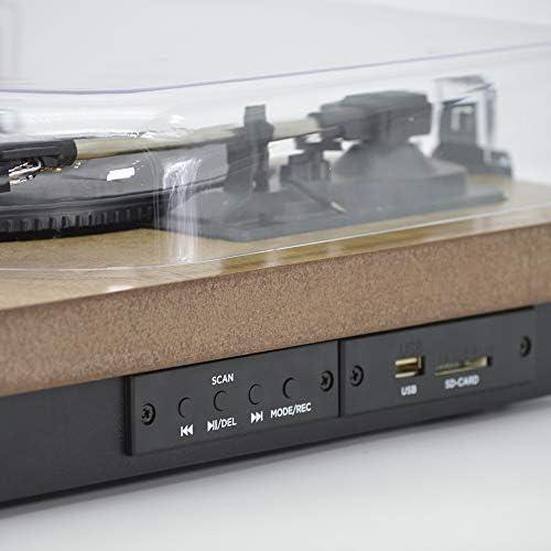 AIWA GBTUR-120WD Bluetooth radio FM 3 velocit/à Giradischi in legno