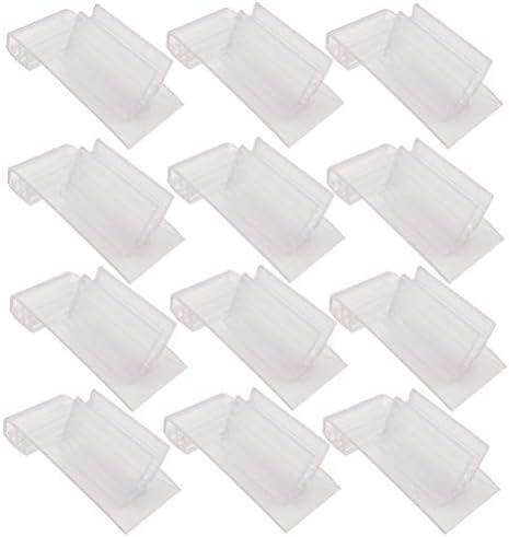 TOYANDONA 20Pcsプラスチックラベルホルダーワイヤー棚のラベルホルダークランプ