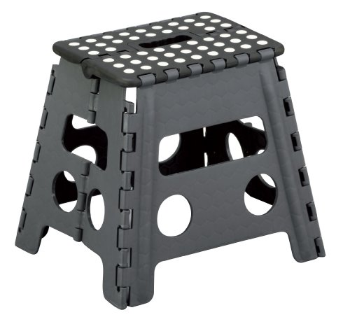Zeller 99161 Klapphocker, Kunststoff 37 x 30 x 32 cm, schwarz / anthrazit
