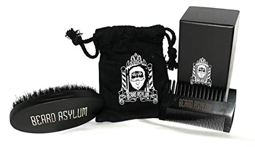 - Beard Asylum Black Comb And Brush Set