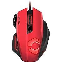 Speedlink Decus Respec Gaming Mouse USB - Programmierbare Gamer Maus für PC / Computer (Laser-Sensor, 5000 DPI - dpi-Schalter und Rapid-Fire-Taste - bis 1000 Hz) Ergonomische Form schwarz/rot