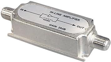 Transmedia FP5iL - Amplificador de antena TV (amplificación 20 dB, 950-2400 MHz