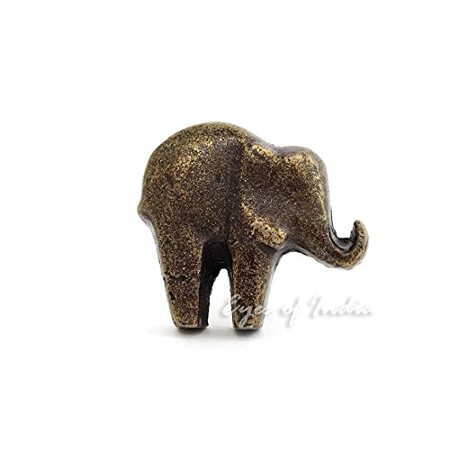 EYES OF INDIA - ELEPHANT BRASS DECORATIVE DOOR - Elephant Dresser Knobs