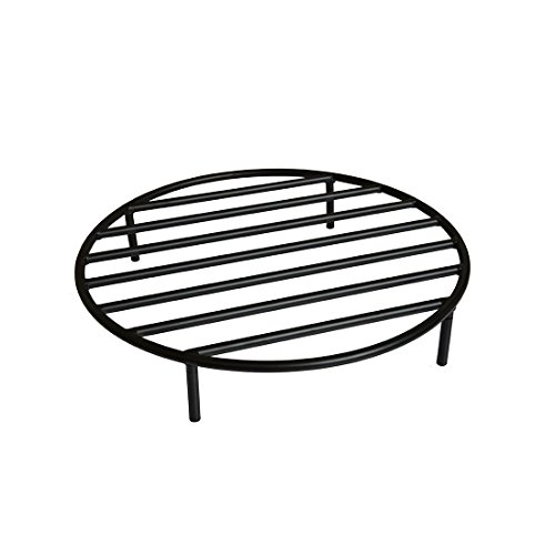 Onlyfire Round Fire Pit Grate with 4 Legs for Outdoor Campfire Grill Cooking, 19 Inch