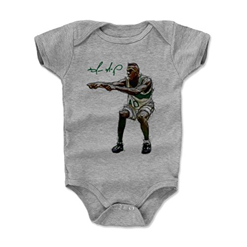 Seattle Supersonics Fan - 500 LEVEL Shawn Kemp Seattle Sonics Baby Clothes, Onesie, Creeper, Bodysuit (3-6 Months, Heather Gray) - Shawn Kemp Point G